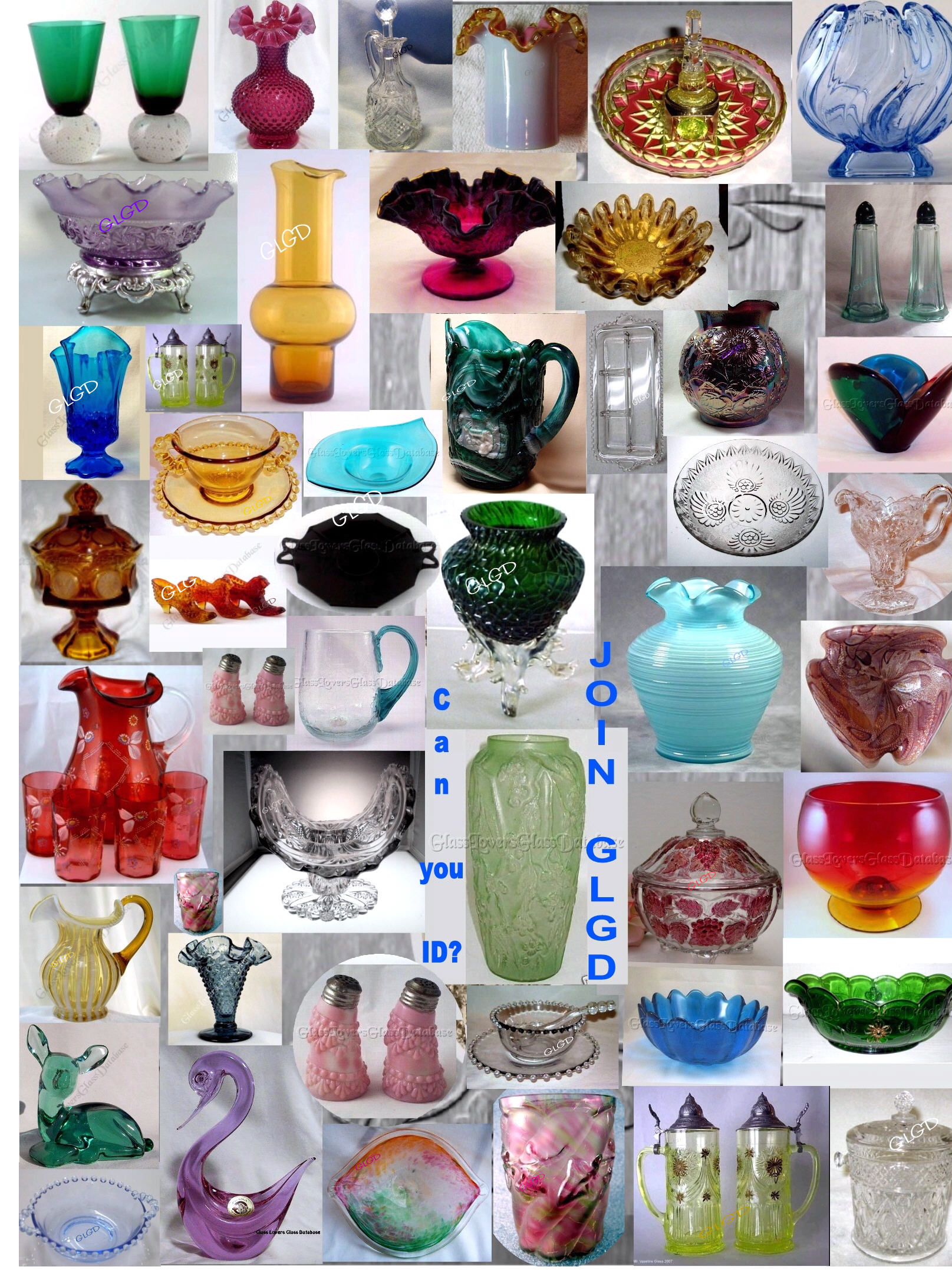 Glass Lovers Glass Database collage of glass